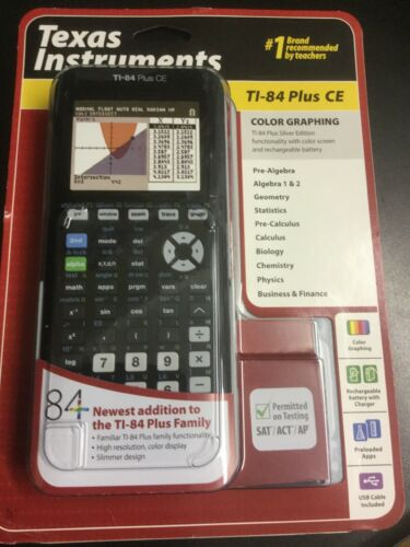 Texas Instruments TI-84 Plus CE Graphing Calculator New  Fre