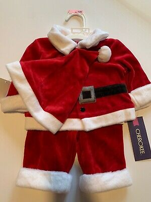 Childrens Santa Outfits (Cherokee Kids - Santa Outfit - 3 piece - Newborn -)
