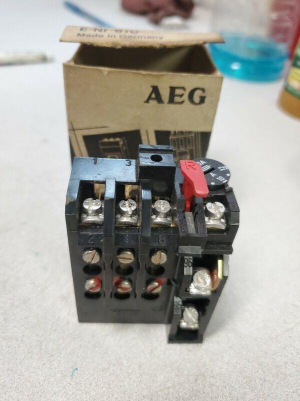 AEG THERMAL OVERLOAD RELAY  EZNr 910-341-192-00 8-12AMP