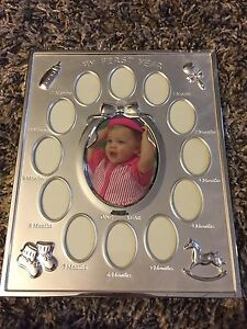 Baby month by month picture frame
