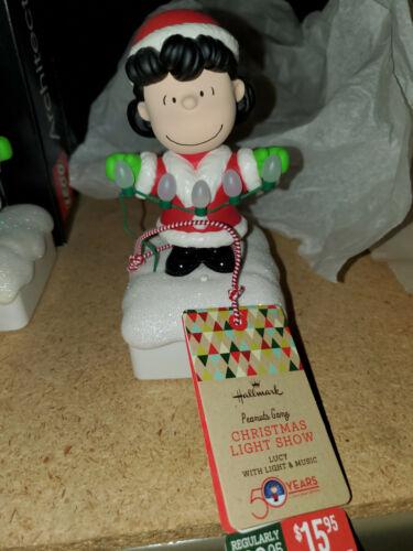 2015 Hallmark Wireless Lucy Light Show Peanuts Christmas Interactive Music