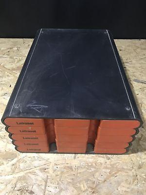 Letraset Stapelbox Kiste orange / schwarz