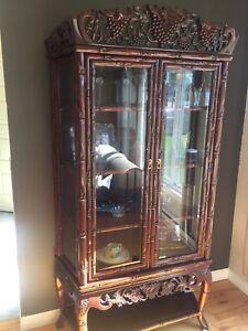 Antique Rosewood display unit
