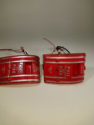 Edwards 270a-spo Fire Alarm Pull Stations Lot Of 2 Working When Removed