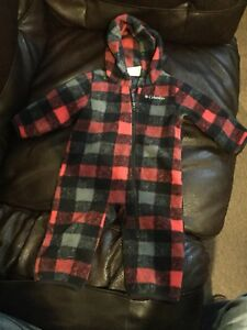 Baby fleece suit 3-6 mos