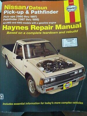 Nissan & Datsun Pick-ups 1980-1997, Pathfinder 1987-1995 Repair Manual