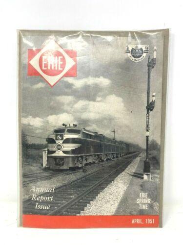 ERIE Railroad Spring Time April 1951 Magazine Annual Report 100th Anniversary