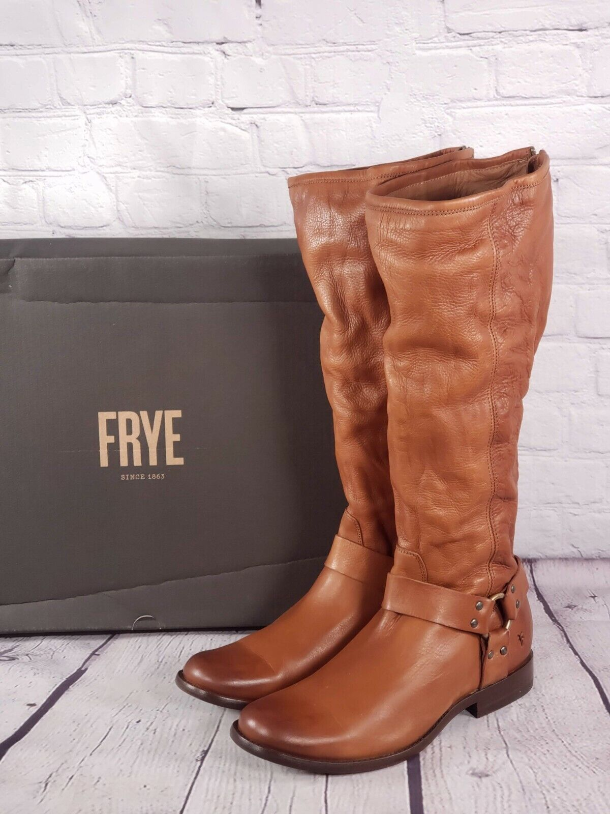Frye - Wide Calf Leather Tall Shaft Boots - Phillip Harness