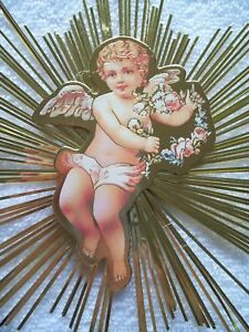 VINTAGE VICTORIAN REPRODUCTION CHRISTMAS ANGEL BOY # 4