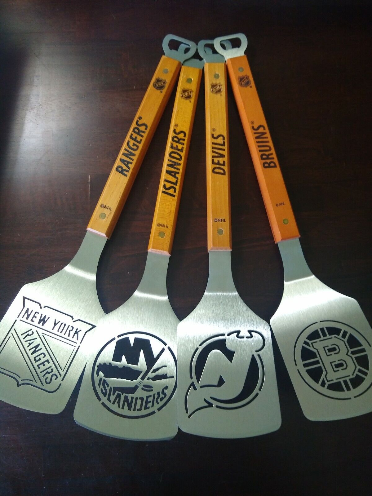 nhl stainless steel spatula grilling bbq tools