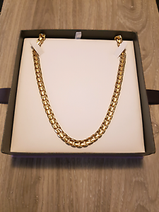 """10kt Yellow Gold - 22"""" - Large Gents Curb Chain - BNIB - Unworn Clarkson Wanneroo Area Preview"""