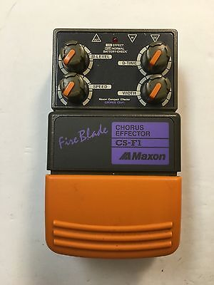 Maxon CS-F1 FireBlade Chorus Effector Rare Vintage Guitar Effect Pedal MIJ Japan for sale  Eureka