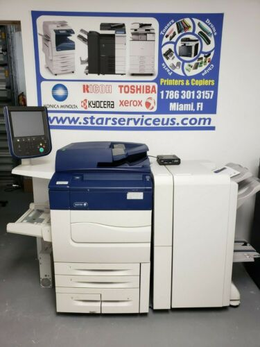 Xerox Color C70  Production Printer Copier Scanner 75 PPM Only 58K total