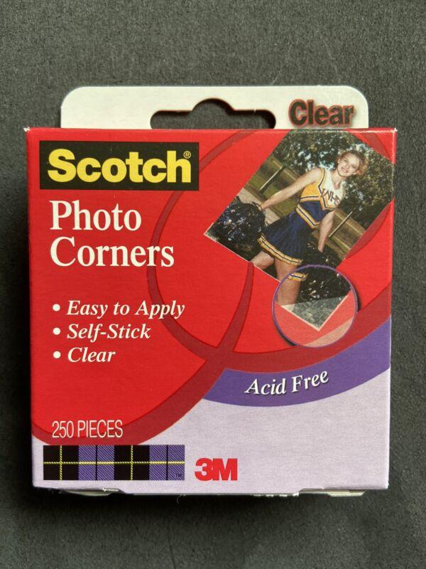 Scotch Photo Corners - Self Adhesive - 250/box - Clear - FREE SHIP
