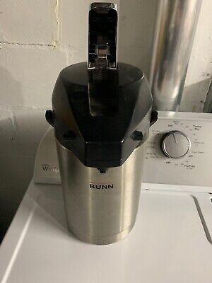 BUNN AIRPOT Restaurant Coffee Hot Beverage Dispenser, Stainless 32125.0000, Used Bunn Stainless Steel Beverage Dispenser
