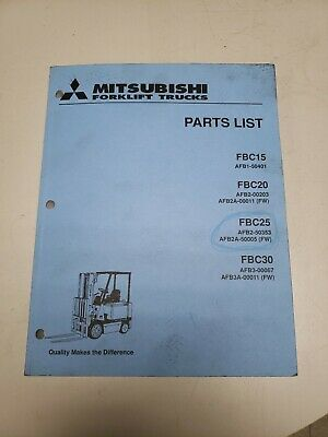 Mitsubishi Forklift Fbc15 20 25 30 Parts List Manual