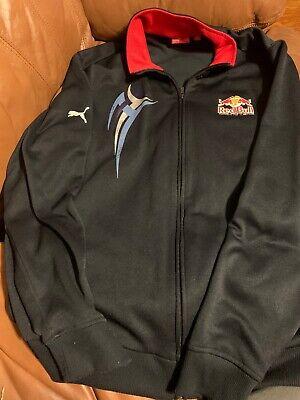 Red Bull Racing Formula One Team Jacket Large Puma Dark Blue Full Zip