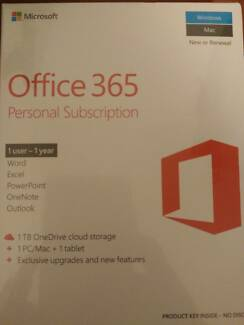 Brand new Microsoft office 365 1 year personal subscription.
