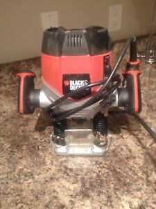 Black and decker plunge router