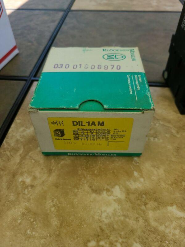 Klockner Moeller DIL1AM Contactor 110 Coil