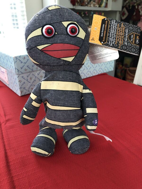 "NWT Gemmy Halloween Mummy Side Steppers Dancing Animated ""Club Cant Handle Me"""