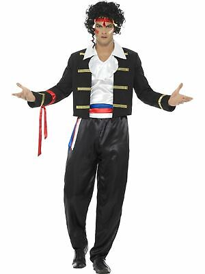 1980s New Romantic Mens Costume Adults Fancy Dress Outfit Stag Party - S Dress Up Party Kostüm