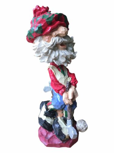 Golfing Santa Bobblehead & Figurine Decor Christmas Gift Golfer Nodder CH 1998