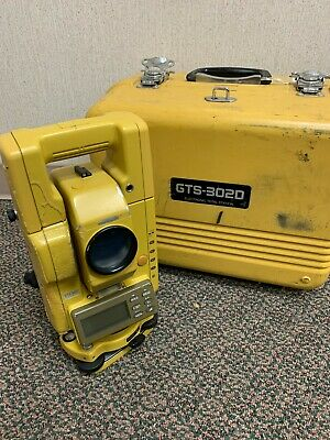 Topcon Gts-302 Surveying Total Station With Case And Battery