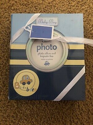 Baby Boy's CAR Blue B is for Beep Keepsake Box & Photo Album Set Baby Gift ()