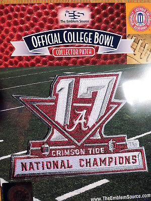 Officl Ncaa College Football Alabama Crimson Tide 2017 National Champions Patch