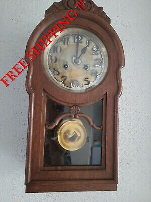 0348 - Antique German Berger & Würker Leipzig ( BWL ) wall clock