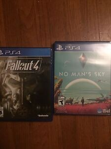 No mans sky and fallout 4 for PS4 swap or sell