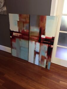2 very large canvas pics