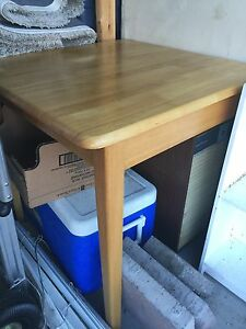 Solid wood card table