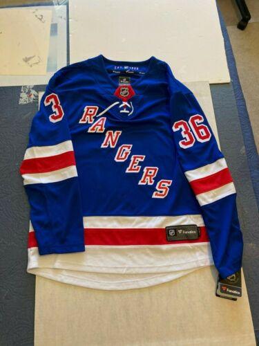 NWT Mens Fanatics NHL New York Rangers MATS ZUCCARELLO Home Hockey Jersey Sz M