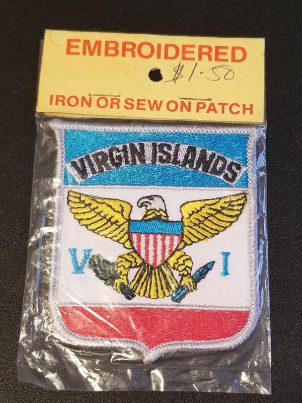 Vintage Virgin Islands Unused Iron / Sew On Patch