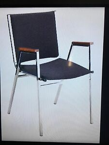 Steel stacking chairs