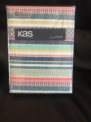 "KAS AUSTRALIA ""Alva"" Double Duvet Set -Textured fabric- Stunning Colours & weave"
