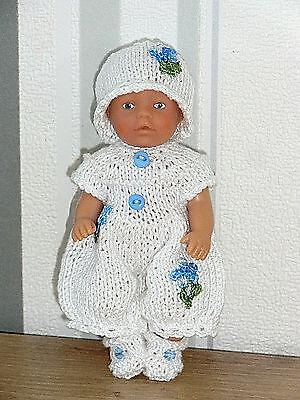 Nostalgie Set 3-tlg Overall  SK,SE ,ARI , Mini- Puppen 11 - 13 cm  Puppenstube