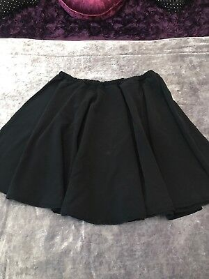School Skirt Skater Style Handmade Elasticated Waist Size 14 Black Halloween?? - Skater Skirt Halloween