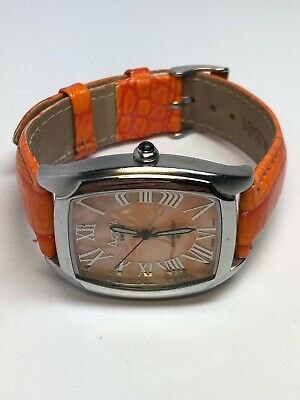 Activa Ladies Stainless Steel Orange Quartz Watch