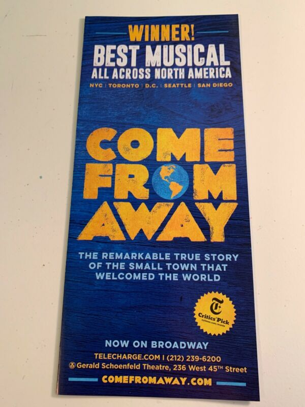 Come From Away Broadway Musical Flyer
