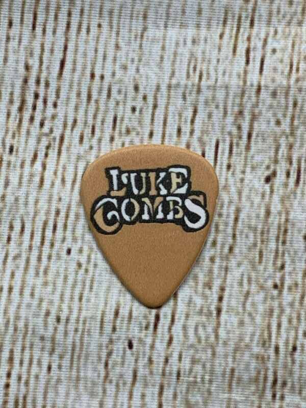 Luke Combs Goldenrod Yellow Guitar Pick Hurricane