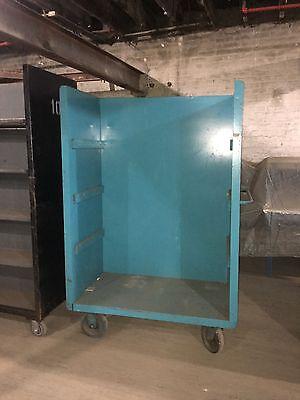 Light Blue Rolling Shelf Cart