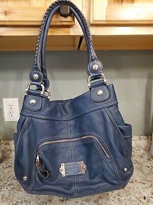 B. Makowsky Brown Leather Shoulder Bag Purse Large