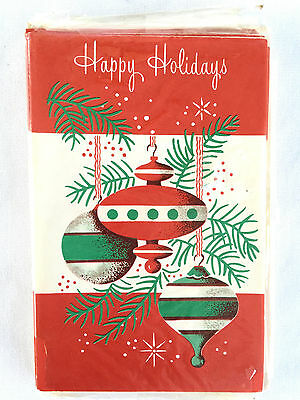 Vintage Happy Holiday Christmas Cards 10 card pack Mid Century N.O.S.  ](Happy Holiday Card)