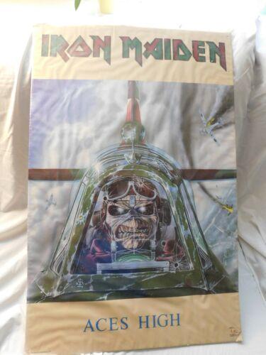 "Vintage IRON MAIDEN ACES HIGH Original Poster 22"" X 34"" 1985 #3021"