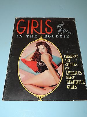 "Vintage 1960's ""GIRLS in the Boudoir"" Vol 1 No. 1 Issue, B&W & Color Nude Photos"