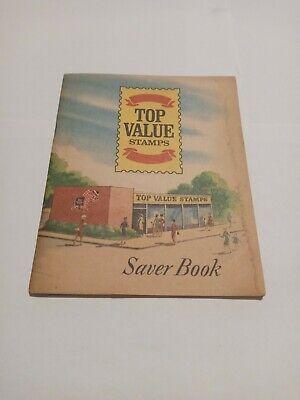 Vintage Top Value Saver Stamps Book Unused copyright 1966