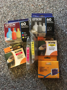Epson 60 brand ink and generic ink.